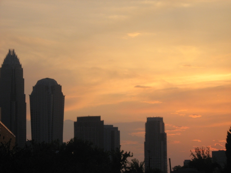 Sunset Over Downtown Charlotte