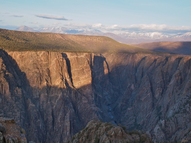 Sunset At The Black Canyon Of The Gunnison