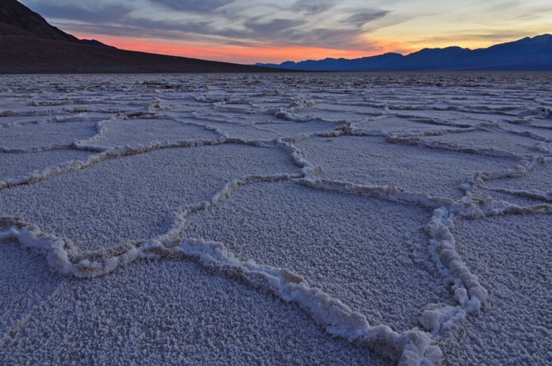 Badwater Flats Sunset Death Valley