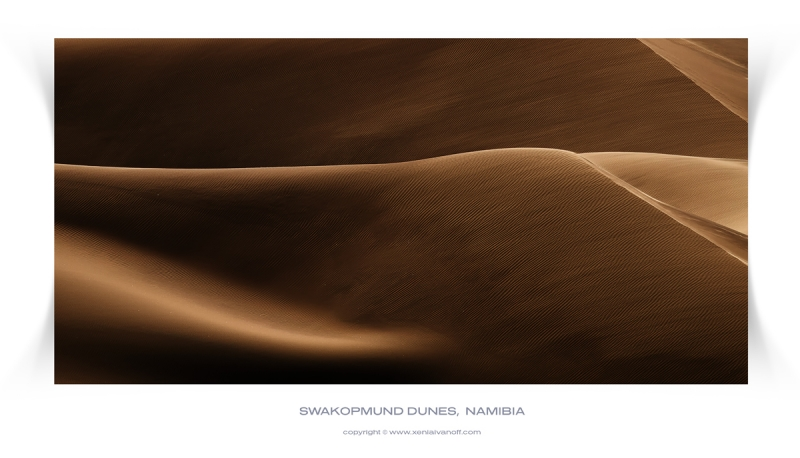 Wind Swept Sand Dunes In The Namib Desert.