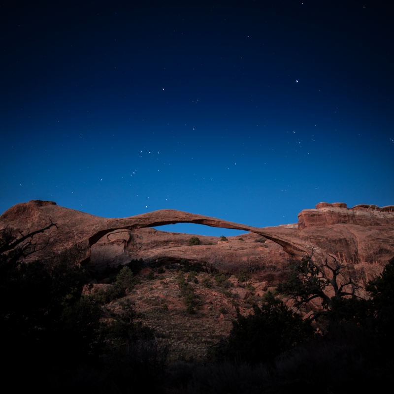 Stars Over Landscape Arch