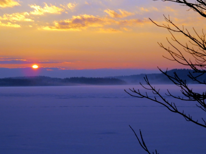 Late December Sunset…lake Auburn, Maine