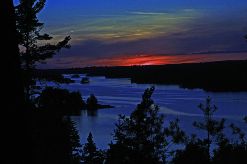 Sunset At Voyageurs Park's Kabetogama Lake