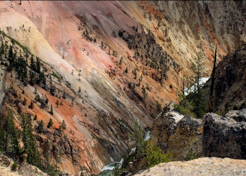 Glorious Grand Canyon Colors In Yellowstone