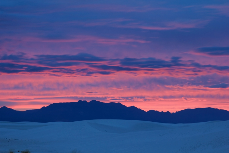 Sunset Over White Sands