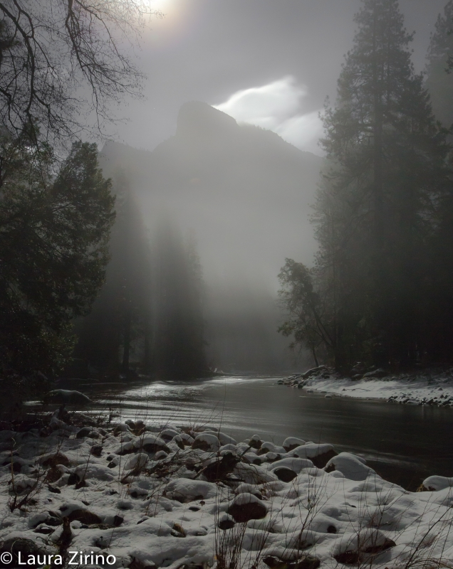 Moonlight Through The Mist, Yosemite Np