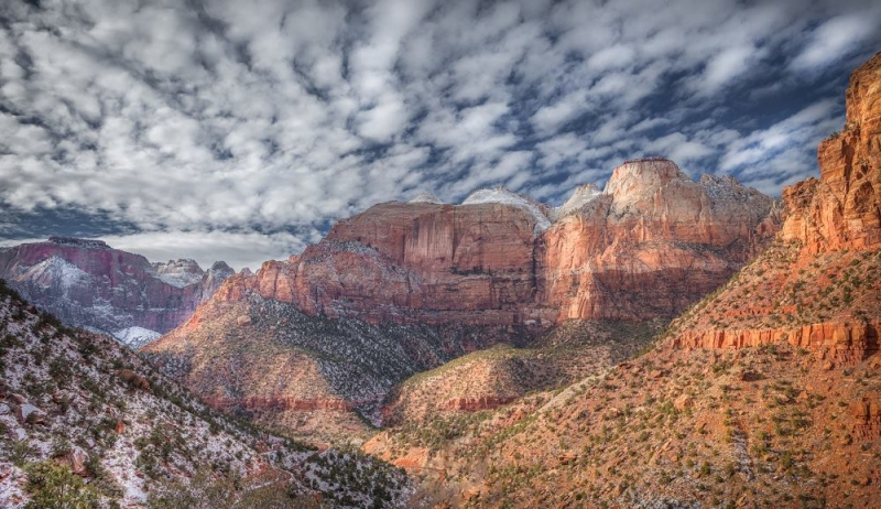 Winter Sky In Zion