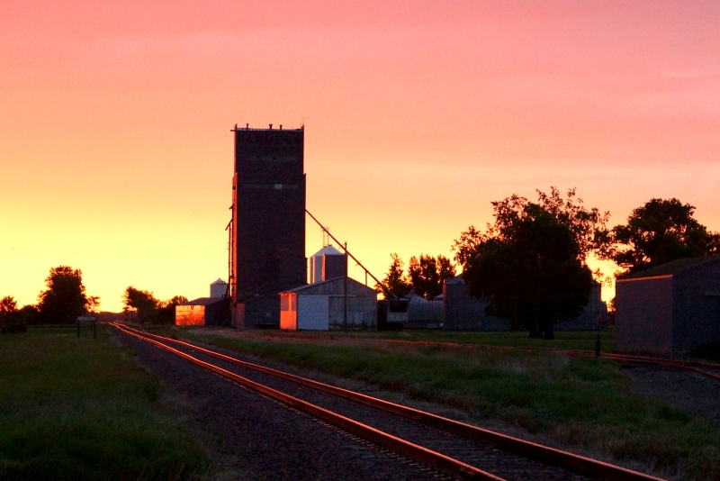 Morning At The Country Elevator
