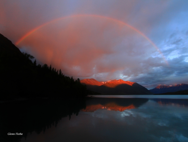 Rainbow Sunset Over Kenai Lake Alaska