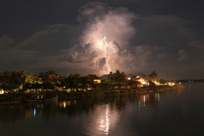 Lightning Over Hoi Ain, Vietnam