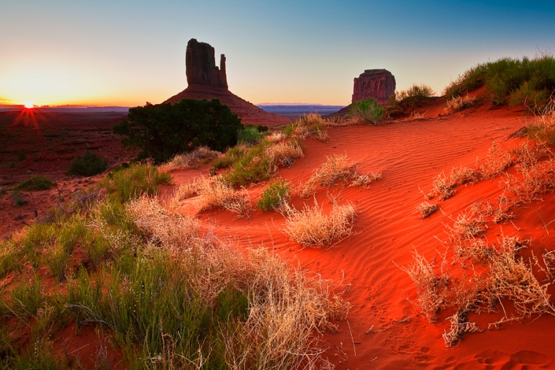 Arizona, Monument Valley, Sunrise, Dune