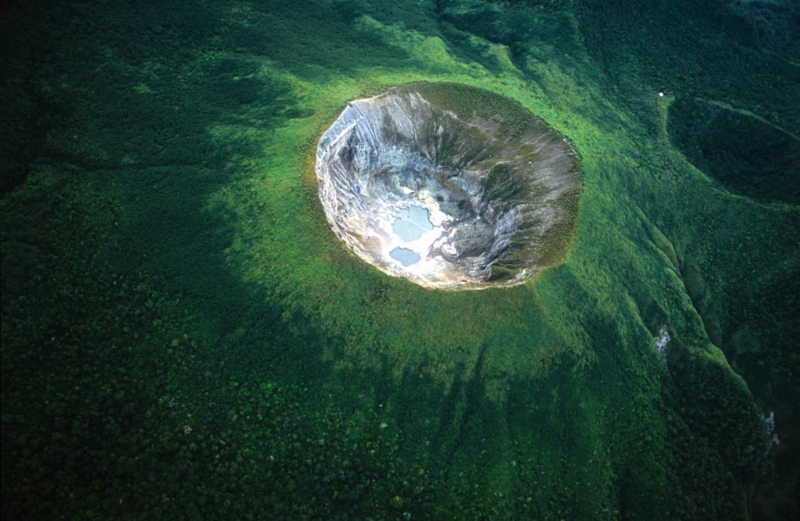 Mahawu Crater In The Rainforest