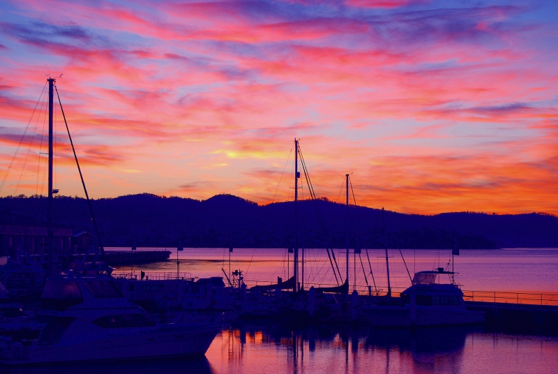 Dawn In Hobart Tasmania