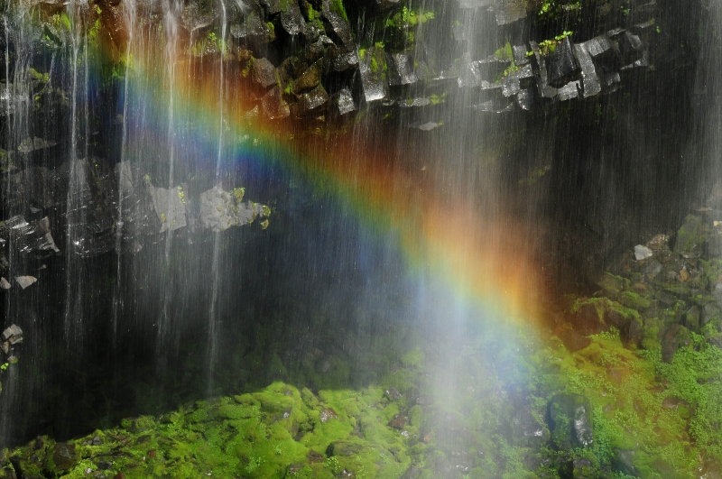 Rainbow At Narada Falls