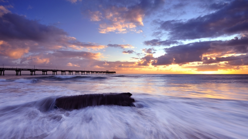 Dania Beach Sunrise, Florida.
