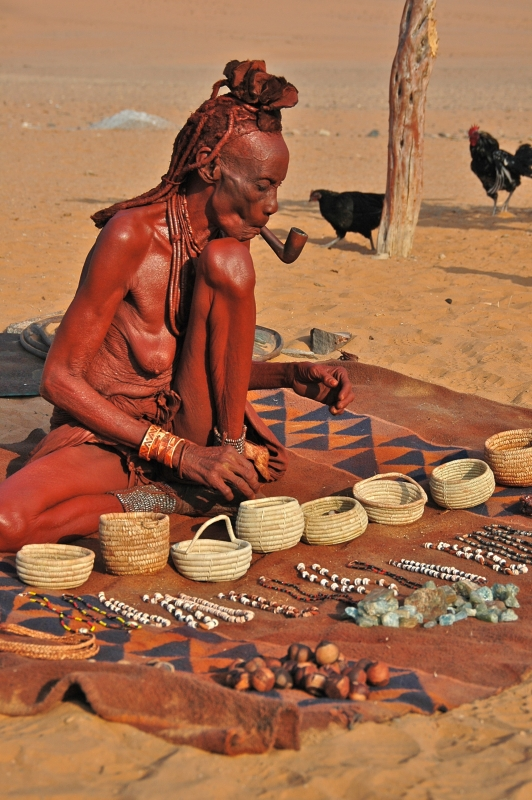 Traditional Himba Elderly Woman