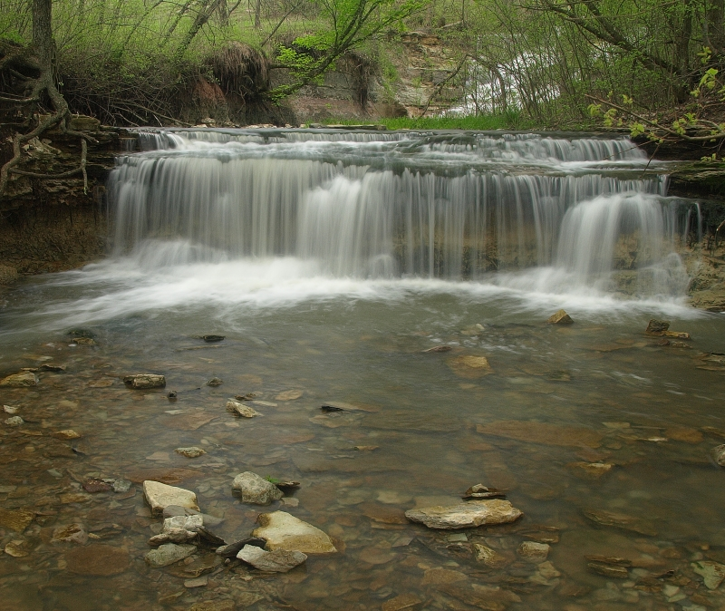 Chase County Lake Falls In Spring
