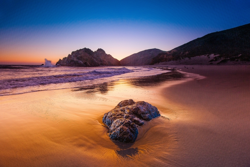 Pfeiffer Beach At Dusk