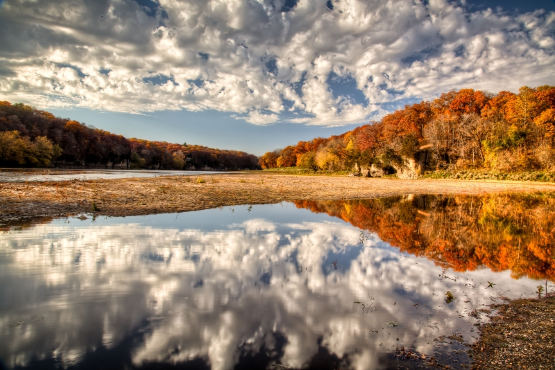 Cloudy Autumn Reflections