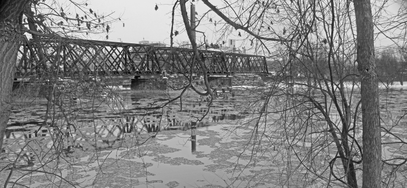 Bridge Over Icy Waters