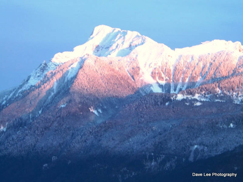 Mt Cheam At Sunset
