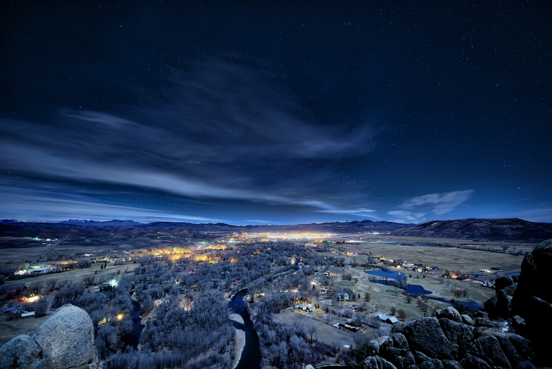 Gunnison By Moonlight