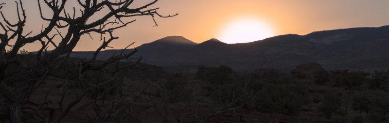 Sunset In Capital Reef Np