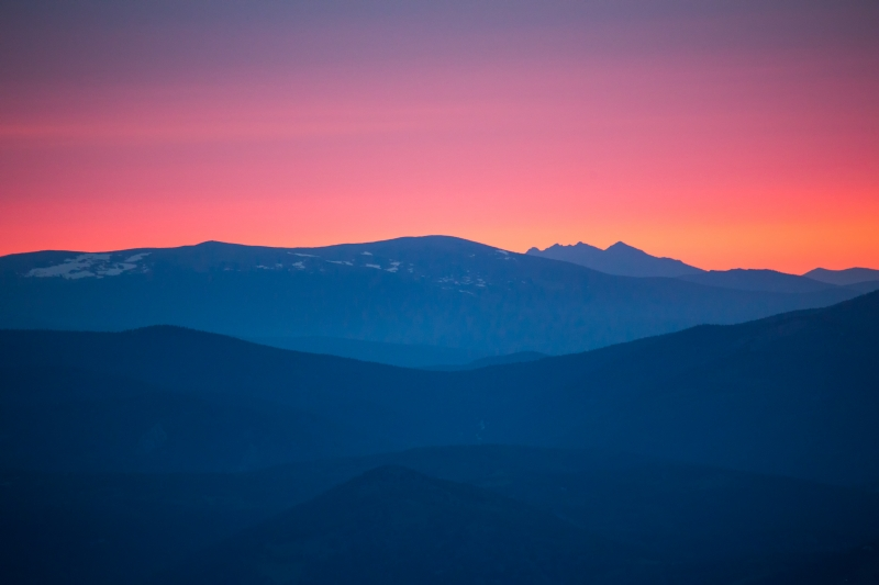 Sunset From Mt Evans