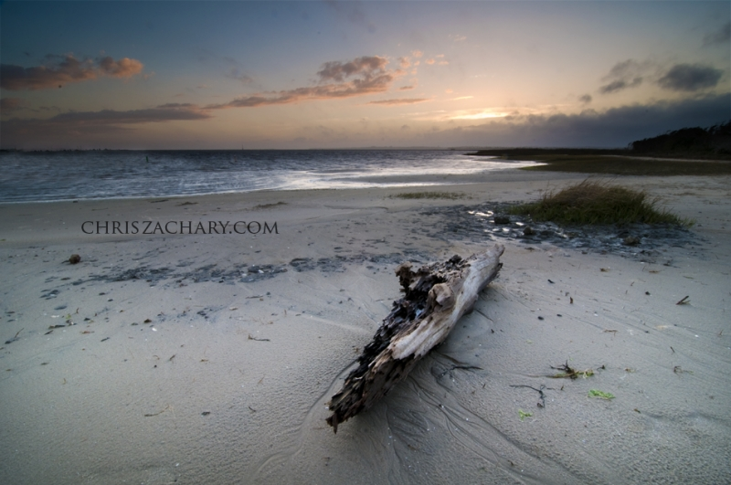 Fort Fisher Driftwood Sunset