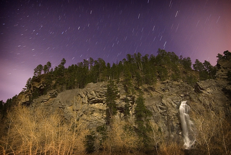 Bridal Veil Falls Star Trails