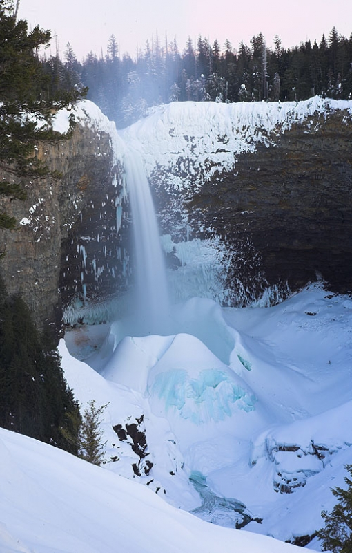 Helmcken Falls Snow Cone In Winter