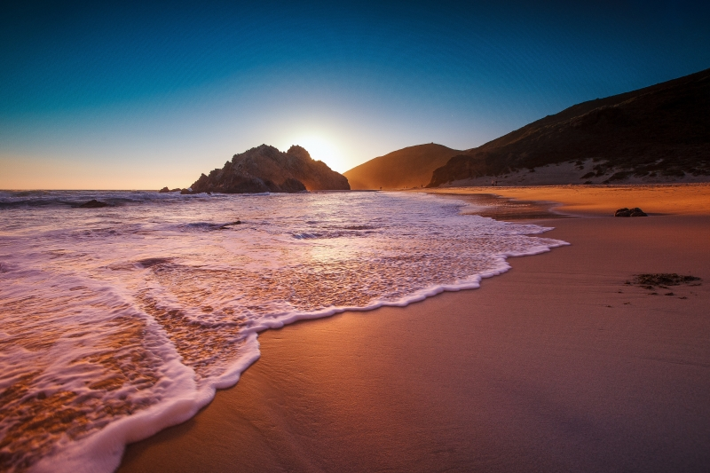 Pfeiffer Beach At Sunset