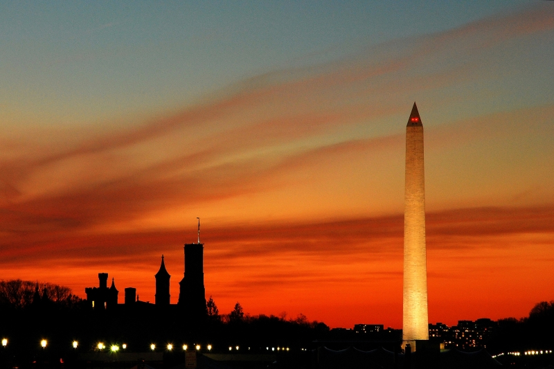 Washington Monument, Sunset