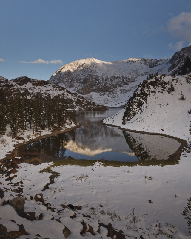 Autumn Snow At Ellery Lake