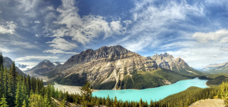 Peyto Lake Combined Images