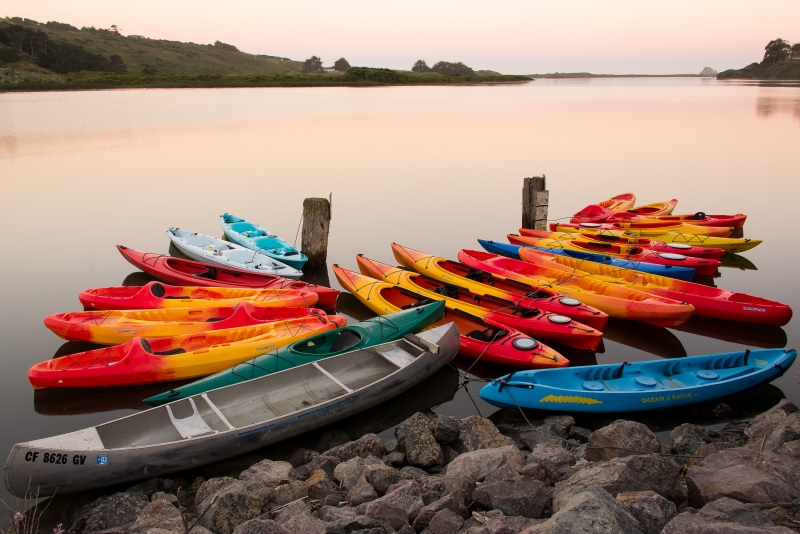 Kayaks At Dawn On The Russian River