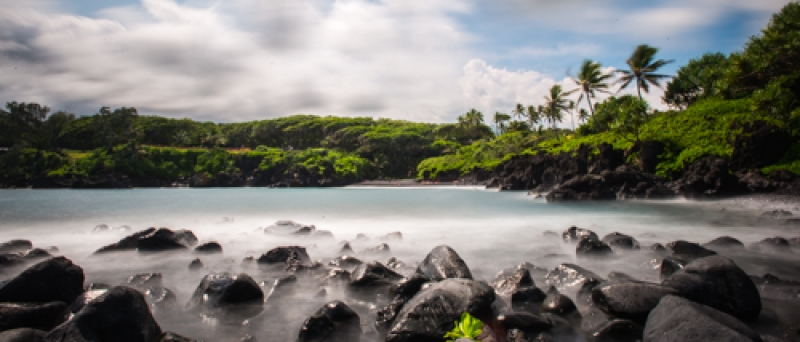 Looking Back At The Black Sand Beach