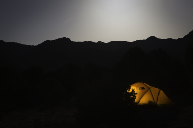 Moon And Tent Glow