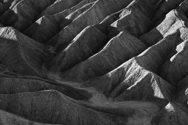 First Light Over Zabriskie Point