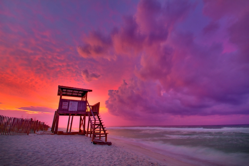 Lifeguard House Sunrise