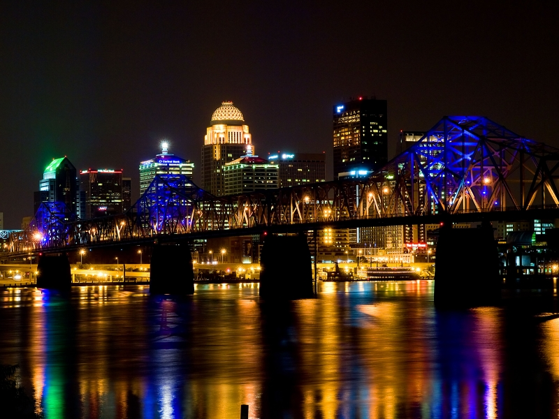 Louisville Skline With Bridge