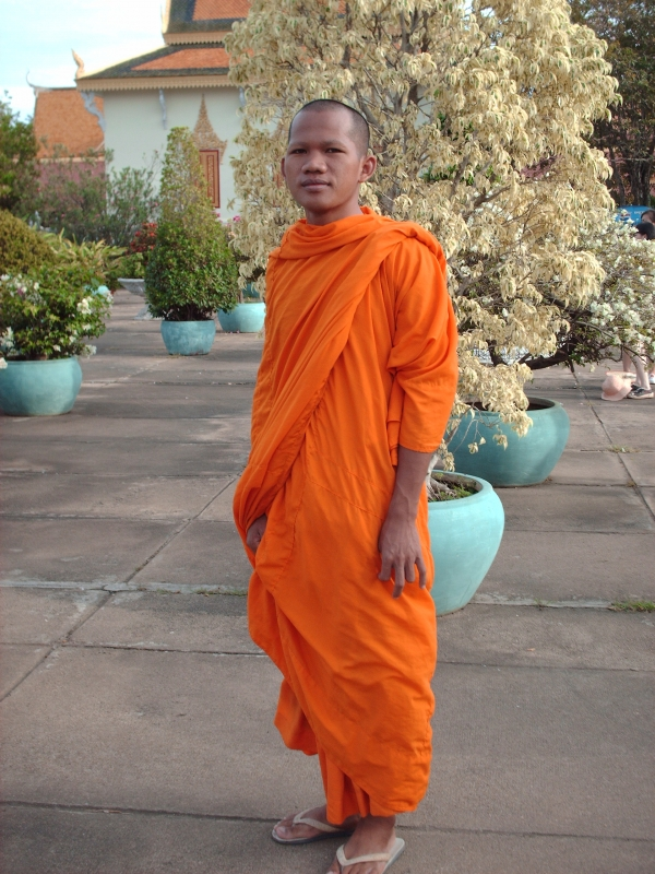 Monk At The Silver Pagoda In Phnom Penh