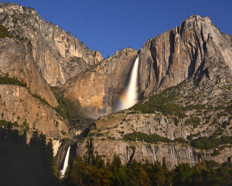 Yosemite Falls By Mooonlight