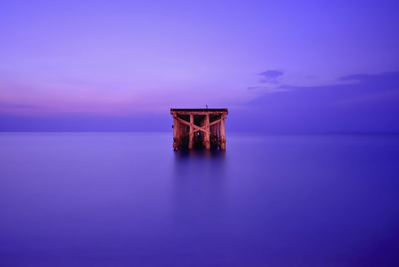 Abandoned Pier At Sunrise