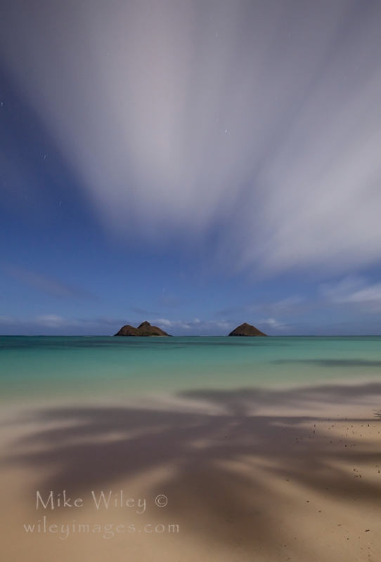 Lanikai Beach Under A Full Moon