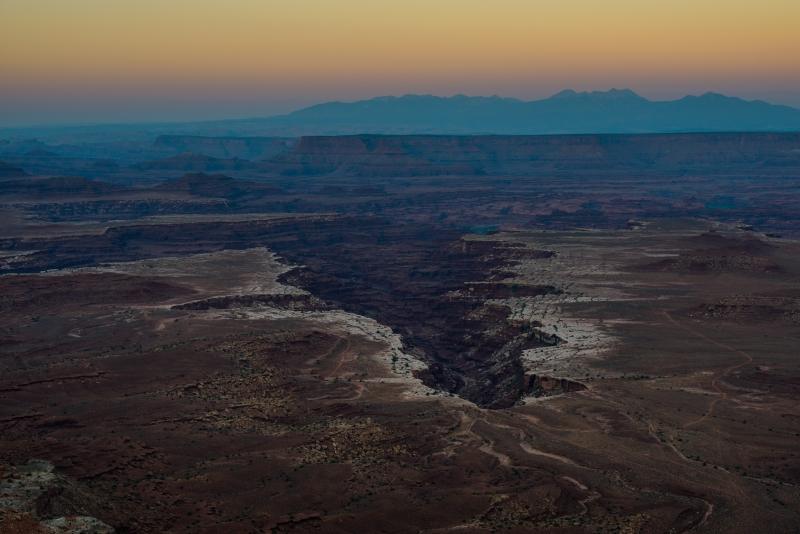 Dusk Over Buck Canyon In Canyonlands