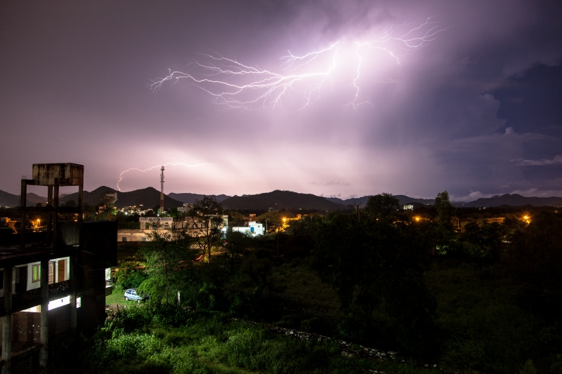 Lightening Over Bedla