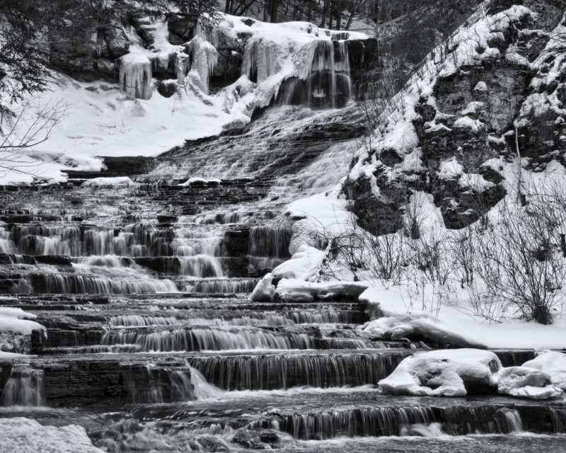 Rensselaerville Falls In Winter