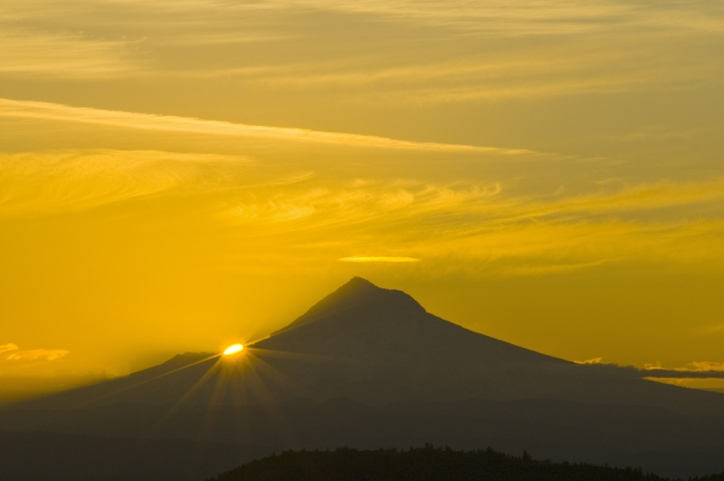 Sunrise Over Mt. Hood