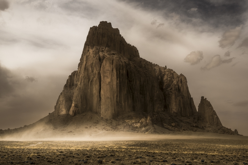 Shiprock And Duststorm